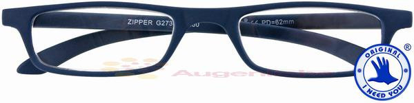 Zipper Kunststoffbrille blau