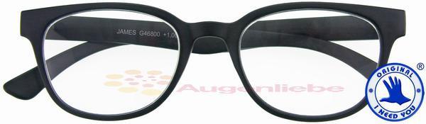 James Retro-Kunststoffbrille schwarz