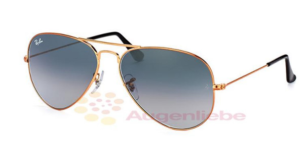 Ray-Ban RB 3025 Aviator 197/71large shiny bronze