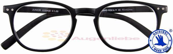 Junior Panto-Kunststoffbrille schwarz