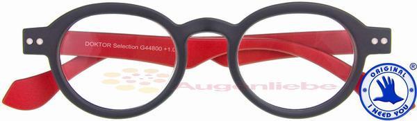 Doktor Selection Retro-Kunststoffbrille anthrazit-rot