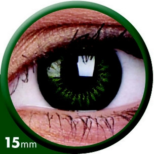 BigEyes Party Green (3-Monatslinse) 15mm (2 Stk.)